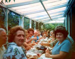 W.I. outing filling the verandah 1982.