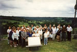 350 years - Wonderful Somerset Buttle gathering 1991 at Clayhidon Church & Inn after lunch (we are facing church in the Blackdown Hills).