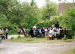 Charity teas at 'The Buttles' (now 1/2 of The Mead, car park side) 2002.