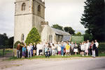 Churchstanton Church, Blackdown Hill Buttles 1991 - 3 & 1/2 centuries of the Somerset Clan were there! (& when it was in Devon pre 1896!)