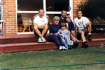 At 'Wexford' Darfield Canterbury, New Zealand, 1995, with the present Buttle family on 700 acres ranch, emigrated 1922 from Enniscorthy.