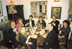 Dining room: 'The Bunch of Lilies' Dinner Party 1989.