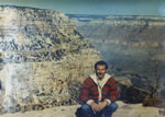 At the Grand Canyon Nov. 1980 and wearing Greek island jacket from May 1980 trip!