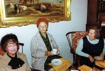 IRIS (Garden Cottage), Ethel & Gladys, Bishop's visit in Mead sittingroom under that big water colour!