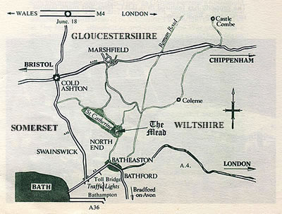 Map from the 1970 - 1992 brochure for the Mead Tea Gardens